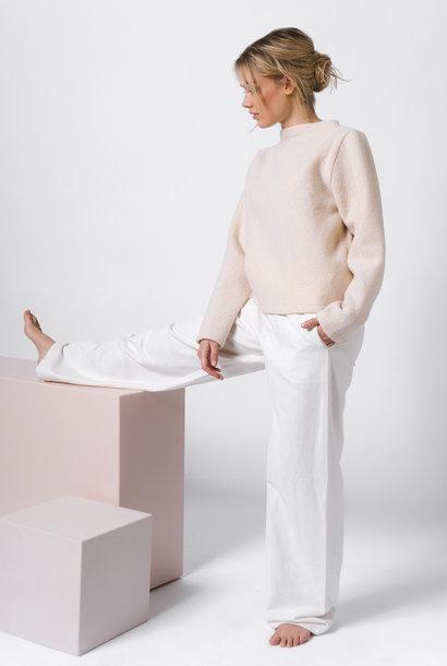 Pullover aus reiner Schurwolle - creme