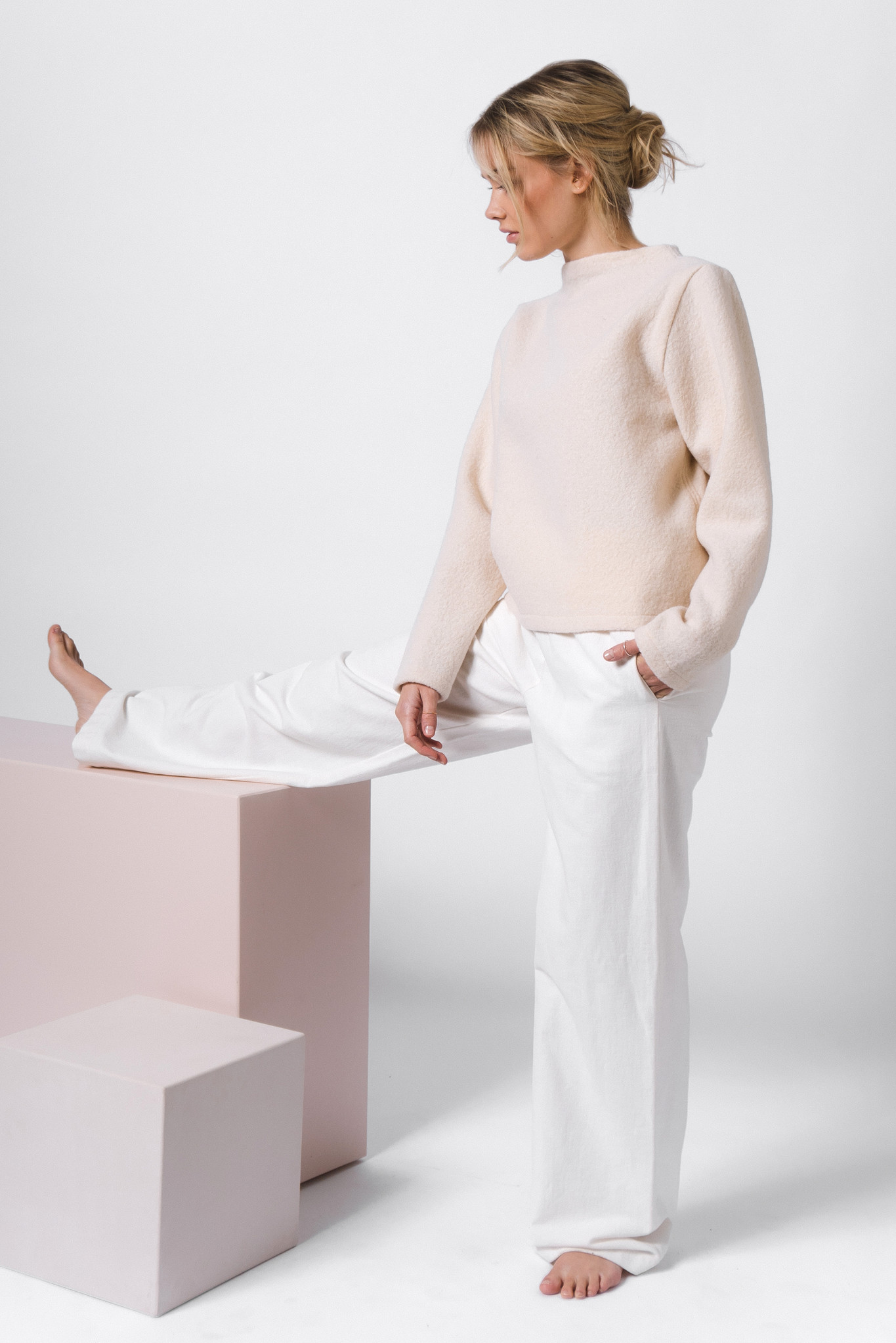 Pure wool sweater - cream-1