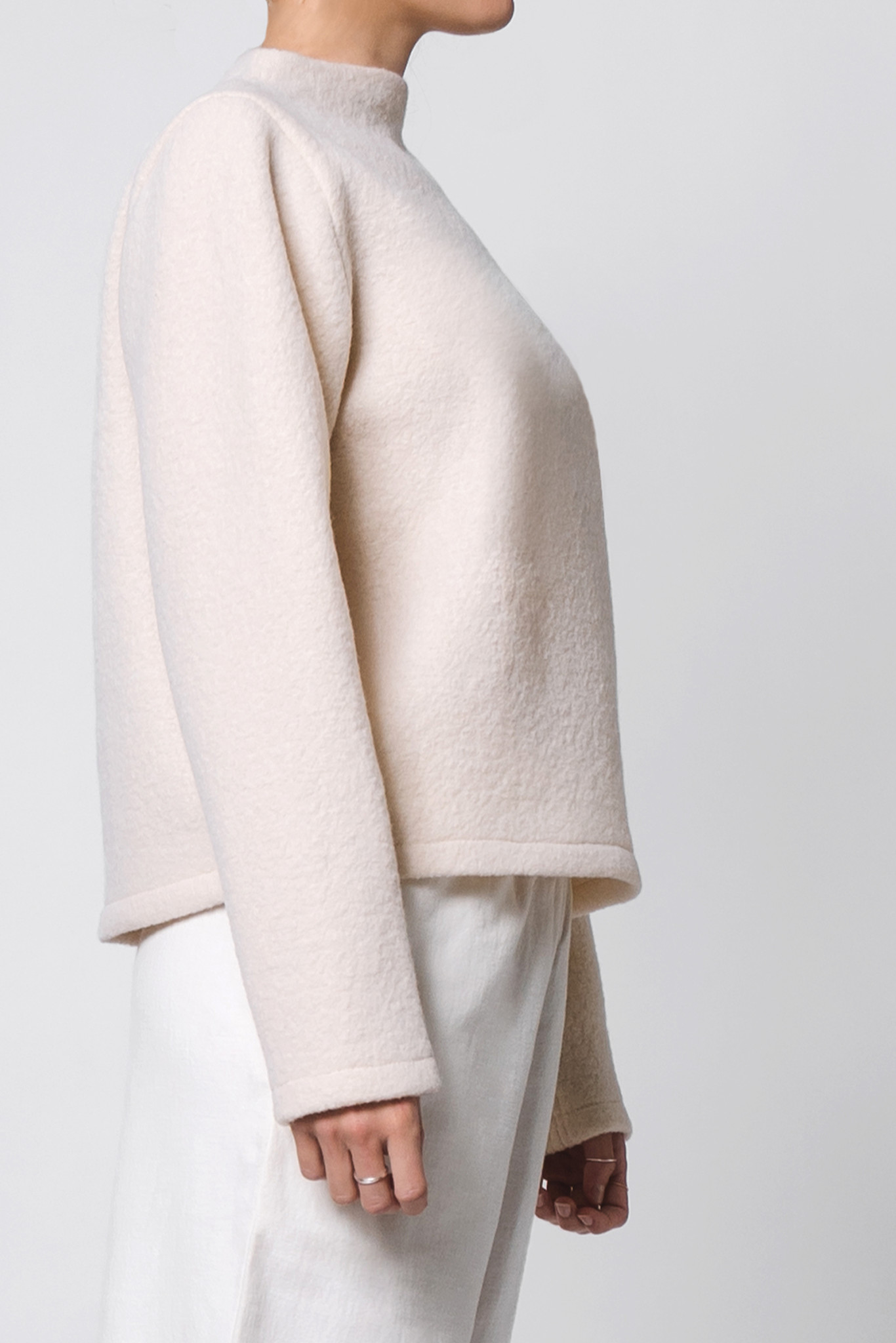 Pure wool sweater - cream-3