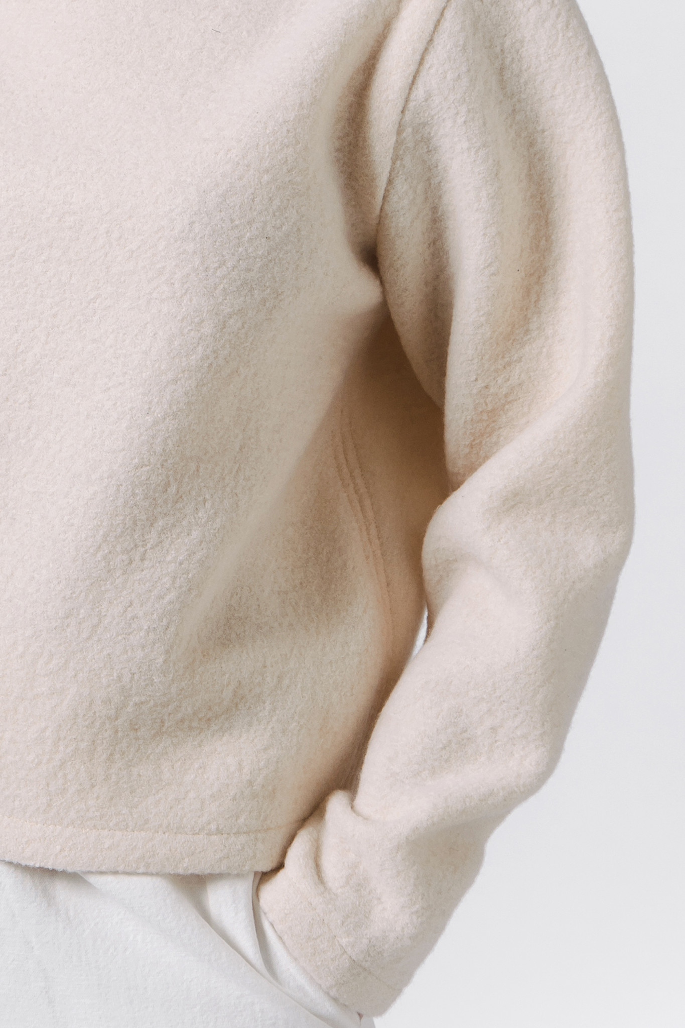 Pure wool sweater - cream-2