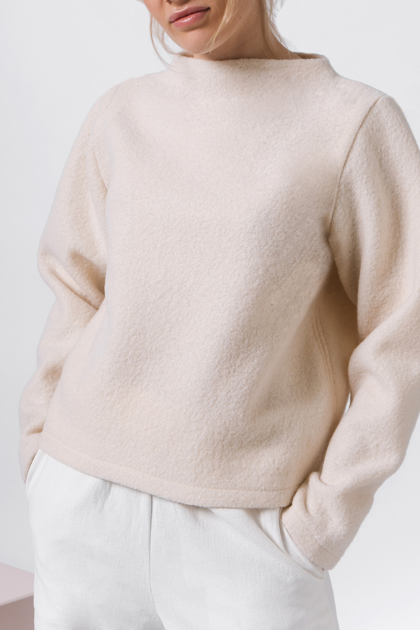Pure wool sweater - cream-4