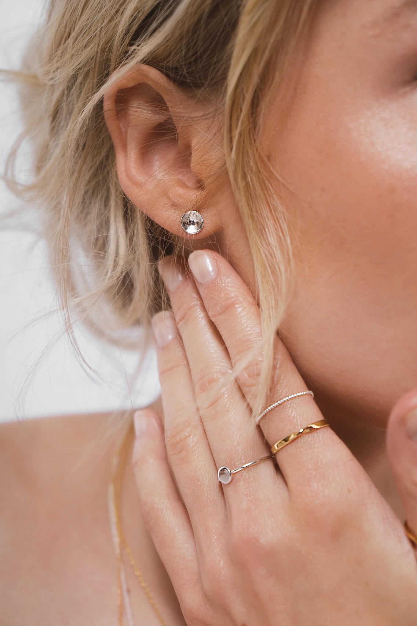 Zarter Ring gedreht - 925er Sterling Silber - Gold-8
