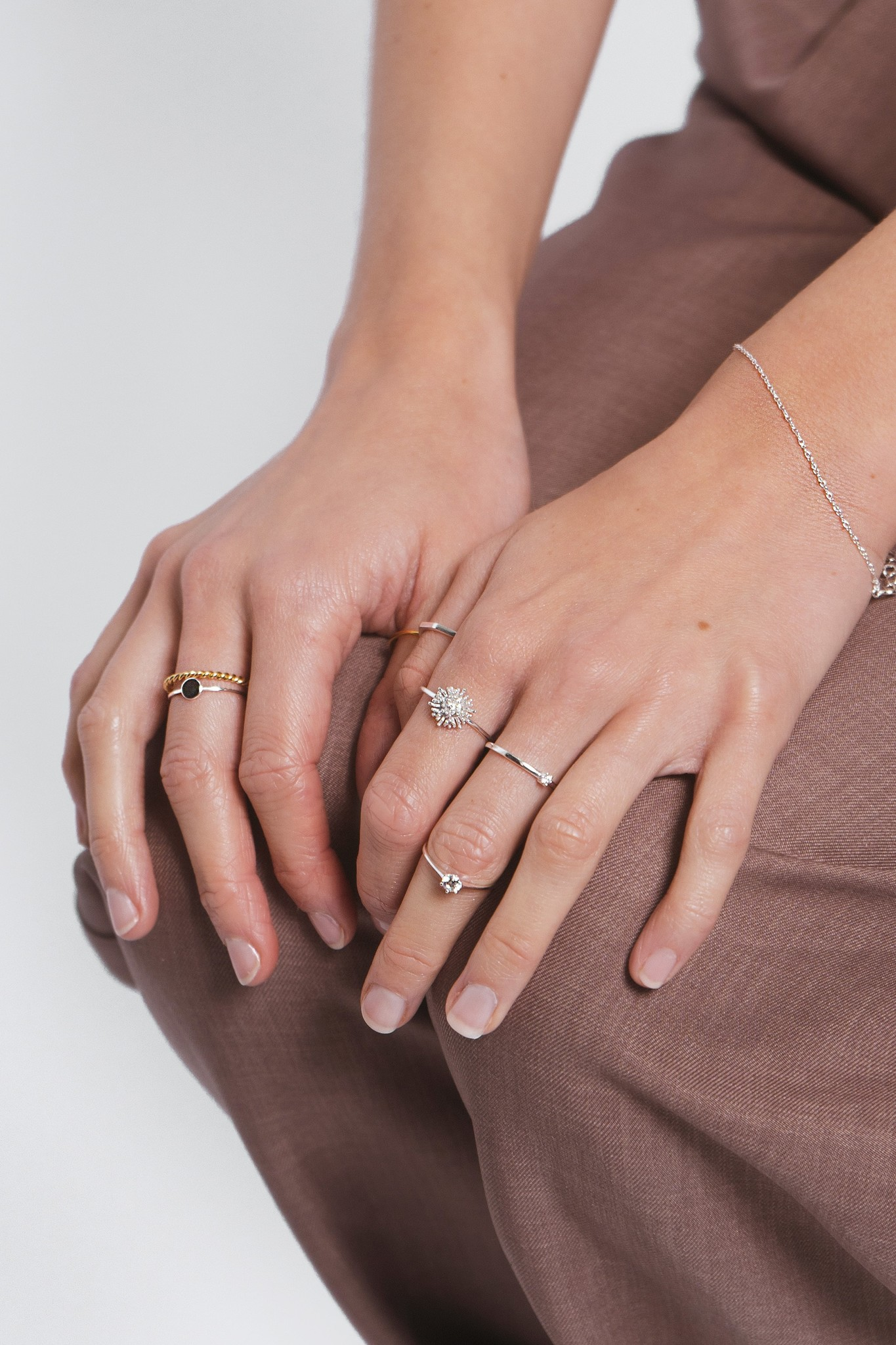 Massive braided ring of 925 sterling silver - Gold-10