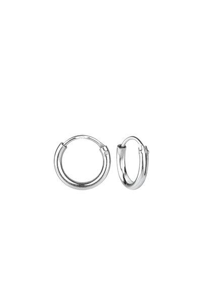 Small hoop earrings (8mm) - 925 sterling silver