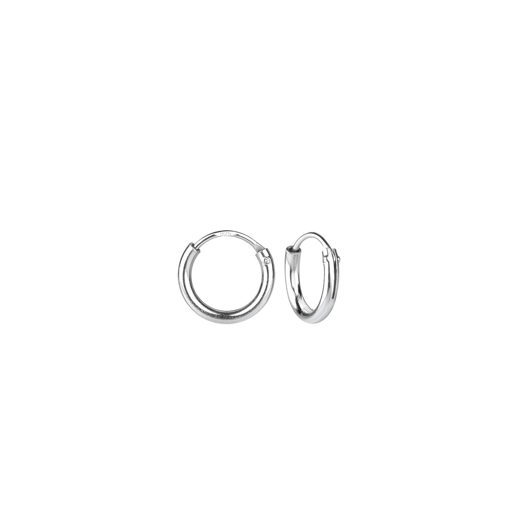 Kleine Creolen Ohrringe (8mm)- 925er Sterling Silber-1