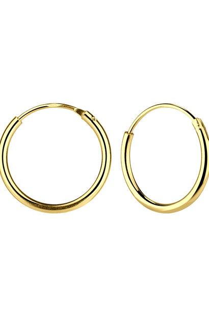 Kleine Creolen Ohrringe (12mm)- 925er Sterling Silber - Gold