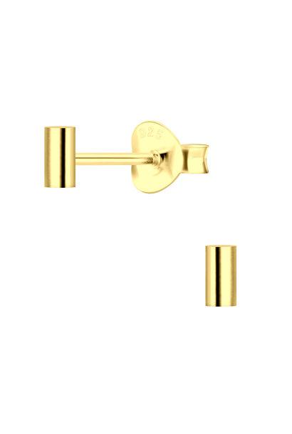 Zarter Ohrstecker Riegel aus 925er Sterling Silber 14k vergoldet