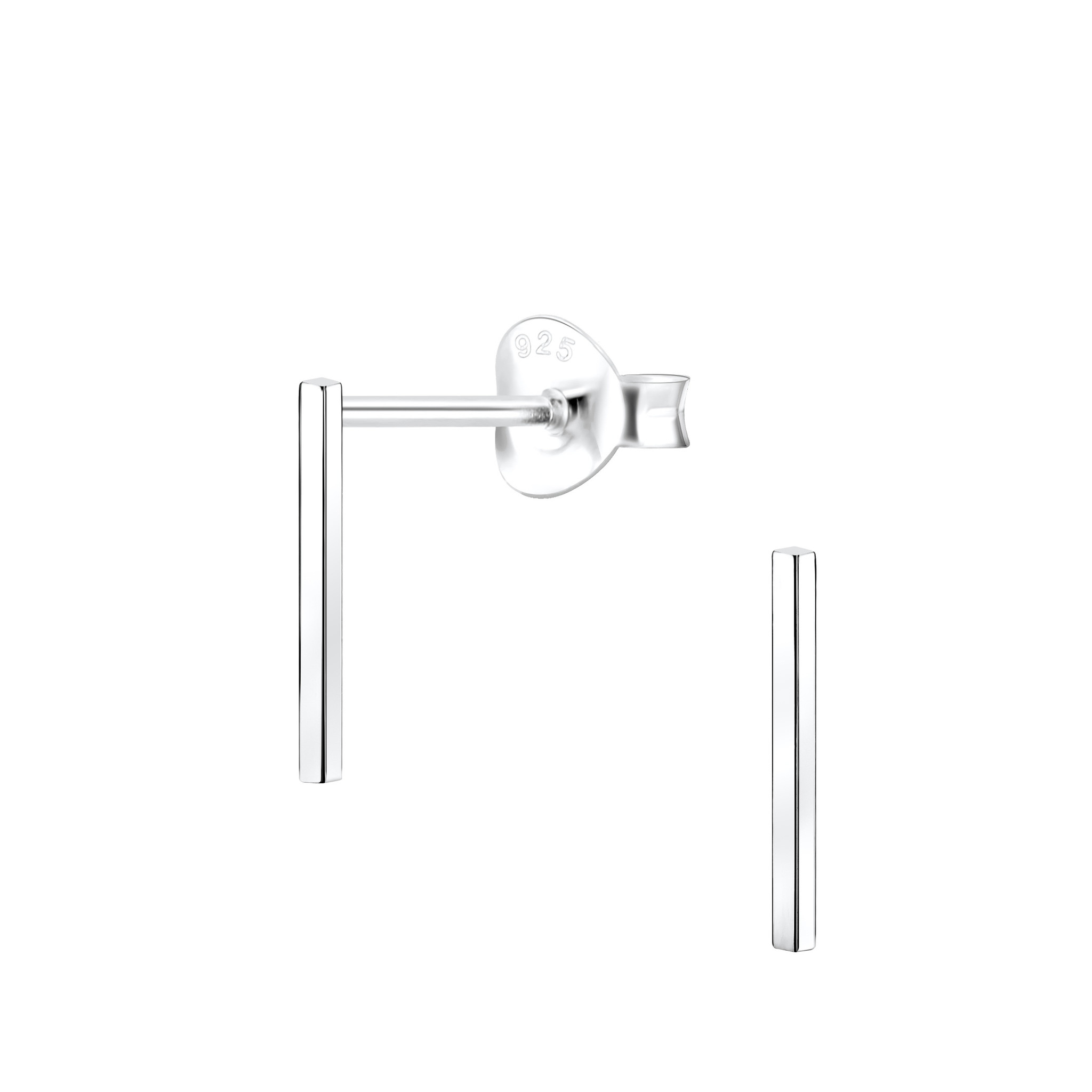 Delicate Studs rod 925 sterling silver-1