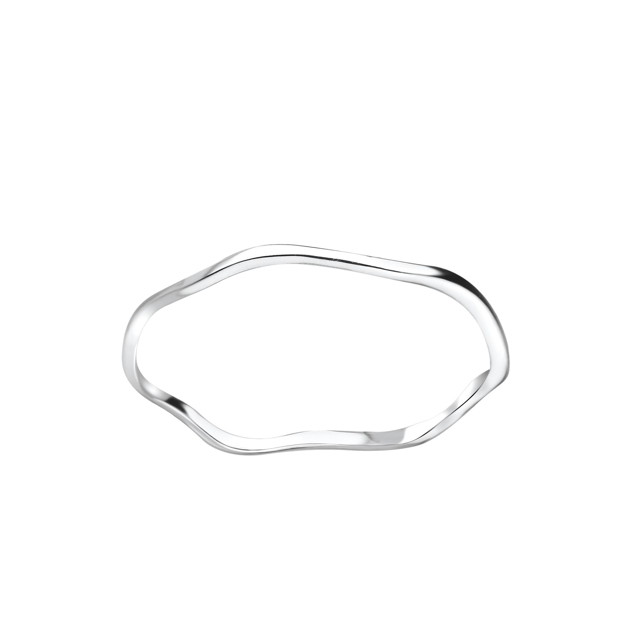Zarter Ring gewellt - 925er Sterling Silber-1