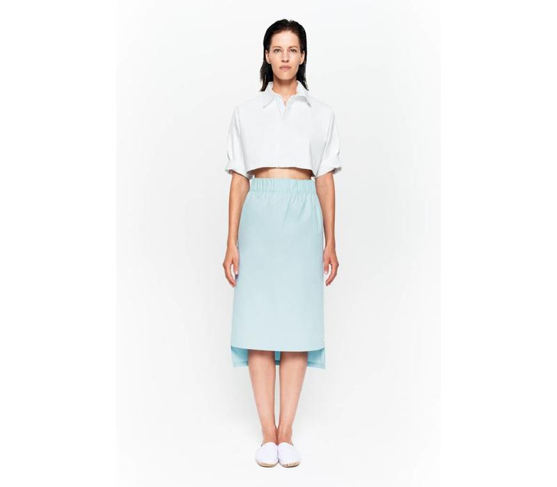Skirt with seam detail in organic cotton white