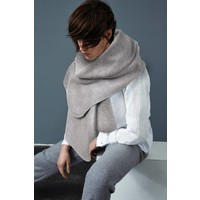 Scarf from organic cotton fleece