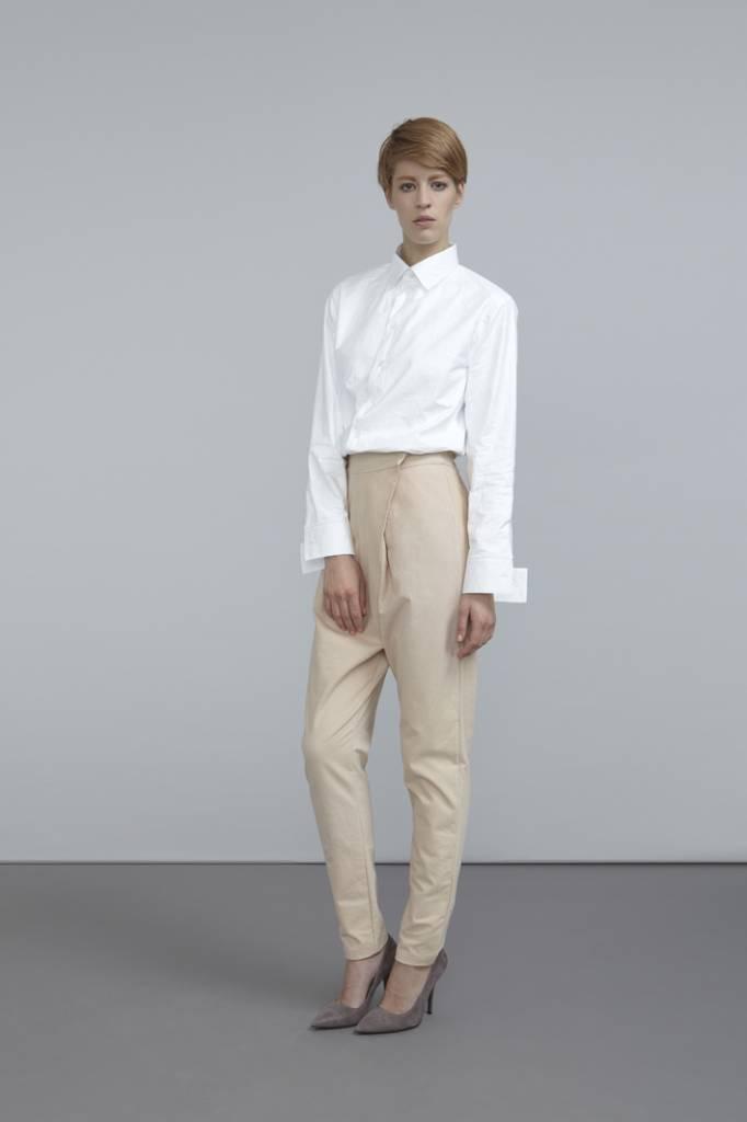 Hose mit Front-Falten aus Bio-Baumwoll-Flanell-1