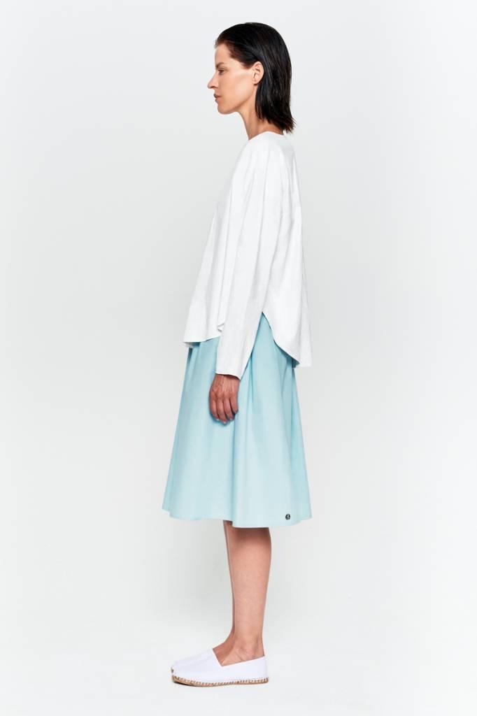 Shirt mit rundem Saum aus Bio-Baumwolle weiß-3