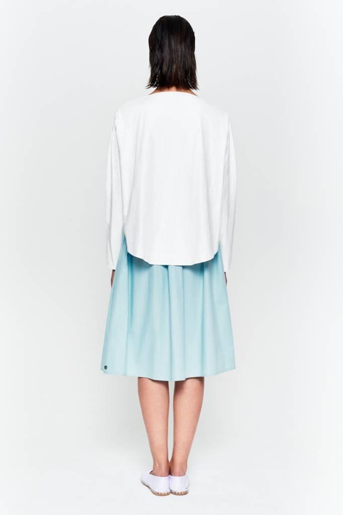 Shirt mit rundem Saum aus Bio-Baumwolle weiß-4