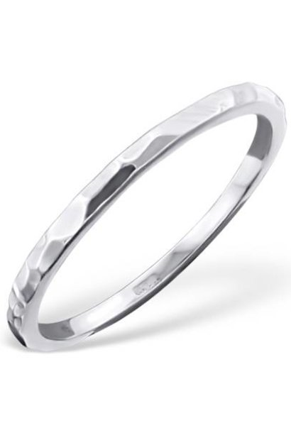 Ring with structure in 925 sterling silver