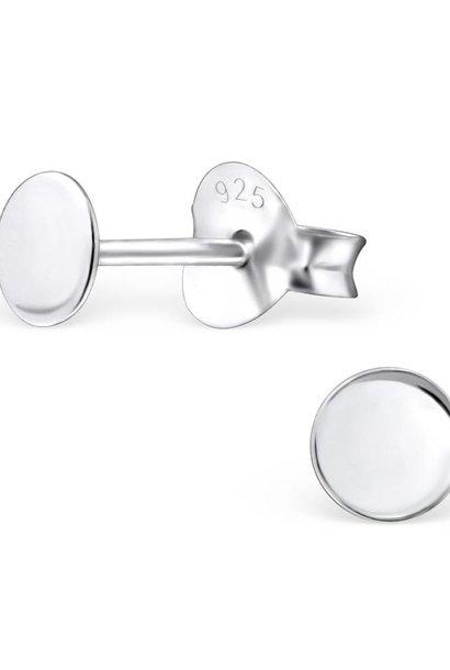 Zarter Ohrstecker rund aus 925er Sterling Silber