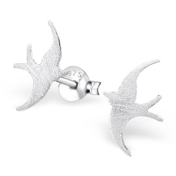 Filigraner Ohrstecker Vogel aus 925er Sterling Silber-1
