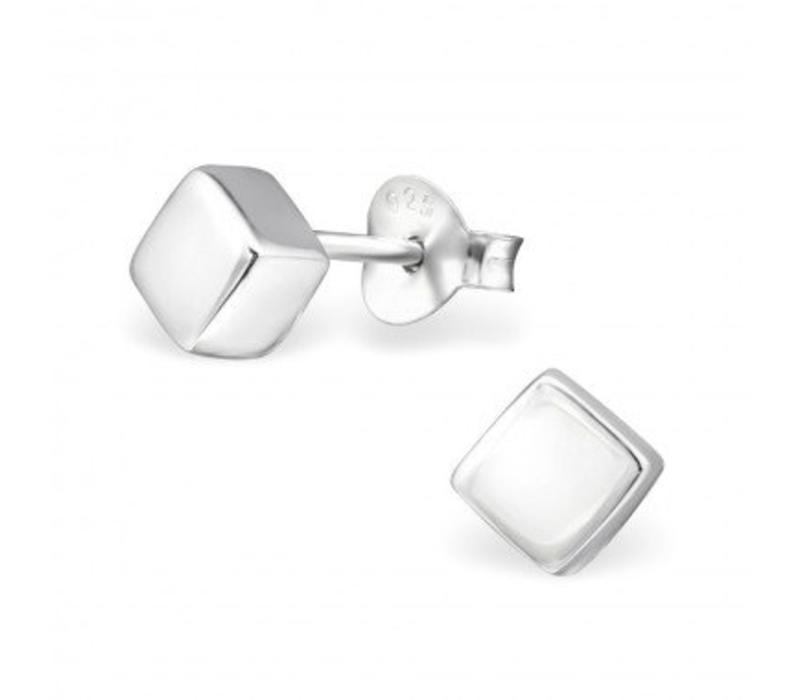 Purist Studs square 925 sterling silver