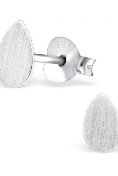 Puristische Ohrstecker Tropfen aus 925er Sterling Silber
