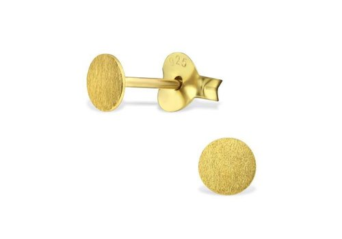 Delicate Studs 925 sterling silver - Gold relined matt