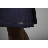 Skirt made of organic cotton flannel nude