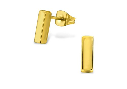 Fine ear plug - gold doubled