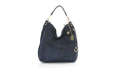 Prachtige Anna Morellini handtas - donkerblauw