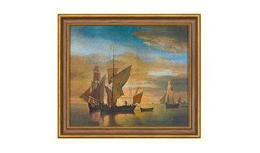 van de Velde, Schepen op kalme zee in het avondlicht (1685)