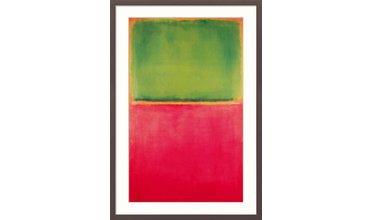 Rothko, Green Red on Orange