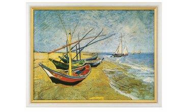 Van Gogh, Visserboten op het strand van Saintes-Maries (1888)