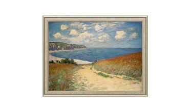 Monet, Strandpad tussen de graanvelden door Pourville (1882)