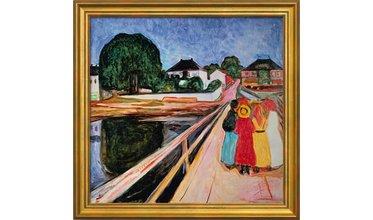 Munch, Meisjesgroep op een brug (1902)