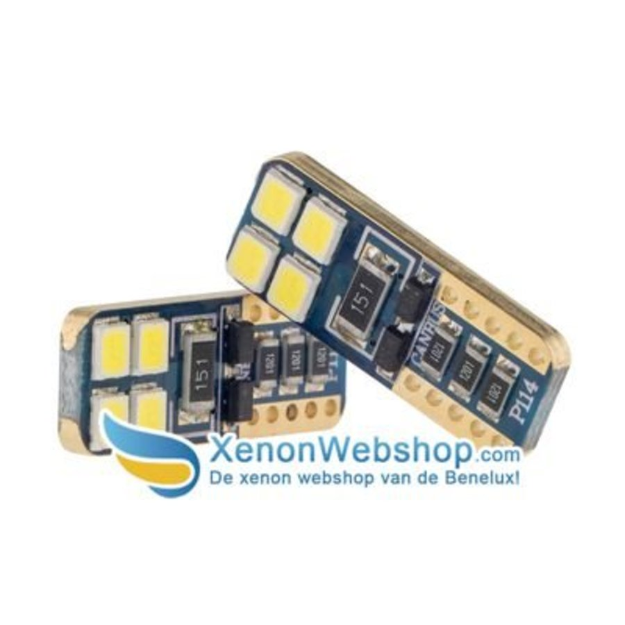 T10 8 SMD Canbus led Gold-1