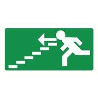 Pikt-o-Norm Veiligheidspictogram nooduitgang links trappen