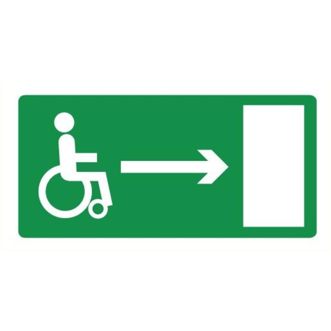 Pikt-o-Norm Veiligheidspictogram nooduitgang rolstoel rechts