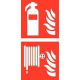 Veiligheidspictogram combi brandblusser haspel