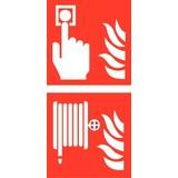 Pictogram combi brandmelder brandhaspel