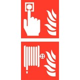 Veilgheidspictogram combi brandmelder brandhaspel