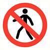 Pikt-o-Norm Veiligheidspictogram verboden voor personen