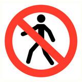Veiligheidspictogram verboden voor personen