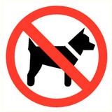 Veiligheidspictogram verboden voor dieren