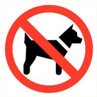 Pikt-o-Norm Veiligheidspictogram verboden voor dieren