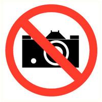 Pikt-o-Norm Veiligheidspictogram verboden te fotograferen