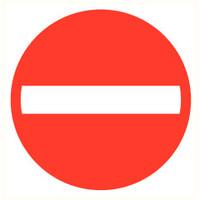 Pikt-o-Norm Veiligheidspictogram verboden eenrichting