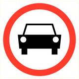 Veiligheidspictogram verboden auto