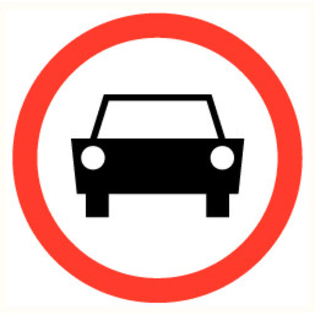 Pikt-o-Norm Veiligheidspictogram verboden auto
