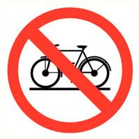 Pikt-o-Norm Veiligheidspictogram verboden fiets