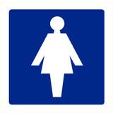 Pictogram aanwijzing WC dames