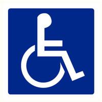 Pikt-o-Norm Pictogram aanwijzing WC personen met beperking