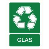 Pictogram recyclage glas
